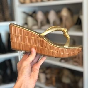 Authentic Kate Spade bamboo wedges size 8